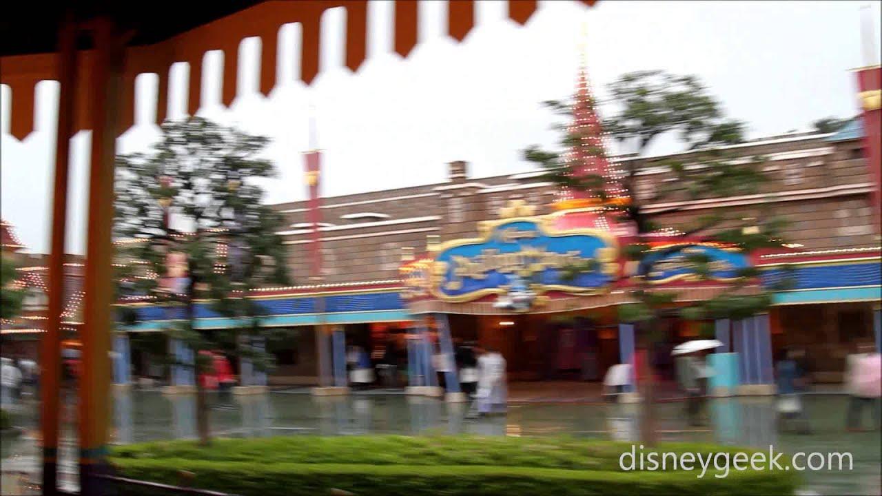 Tokyo Disneyland Castle Carrousel Pov In The Rain Youtube