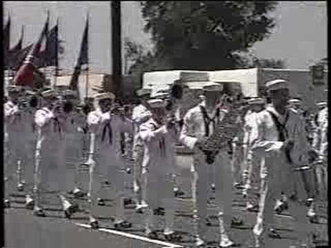 Navy Drum and Bugle Corps at 1991 Maytime Band Review