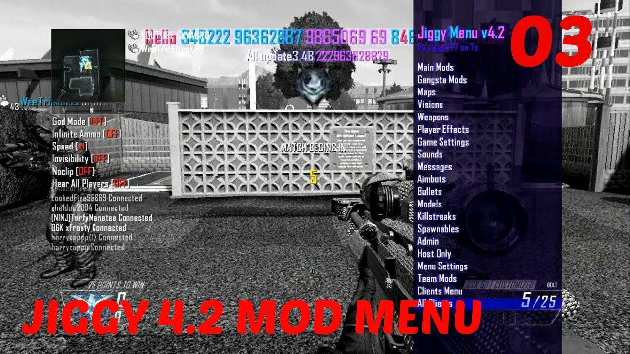Black Ops 2 Jiggy mod menu (No Sound)