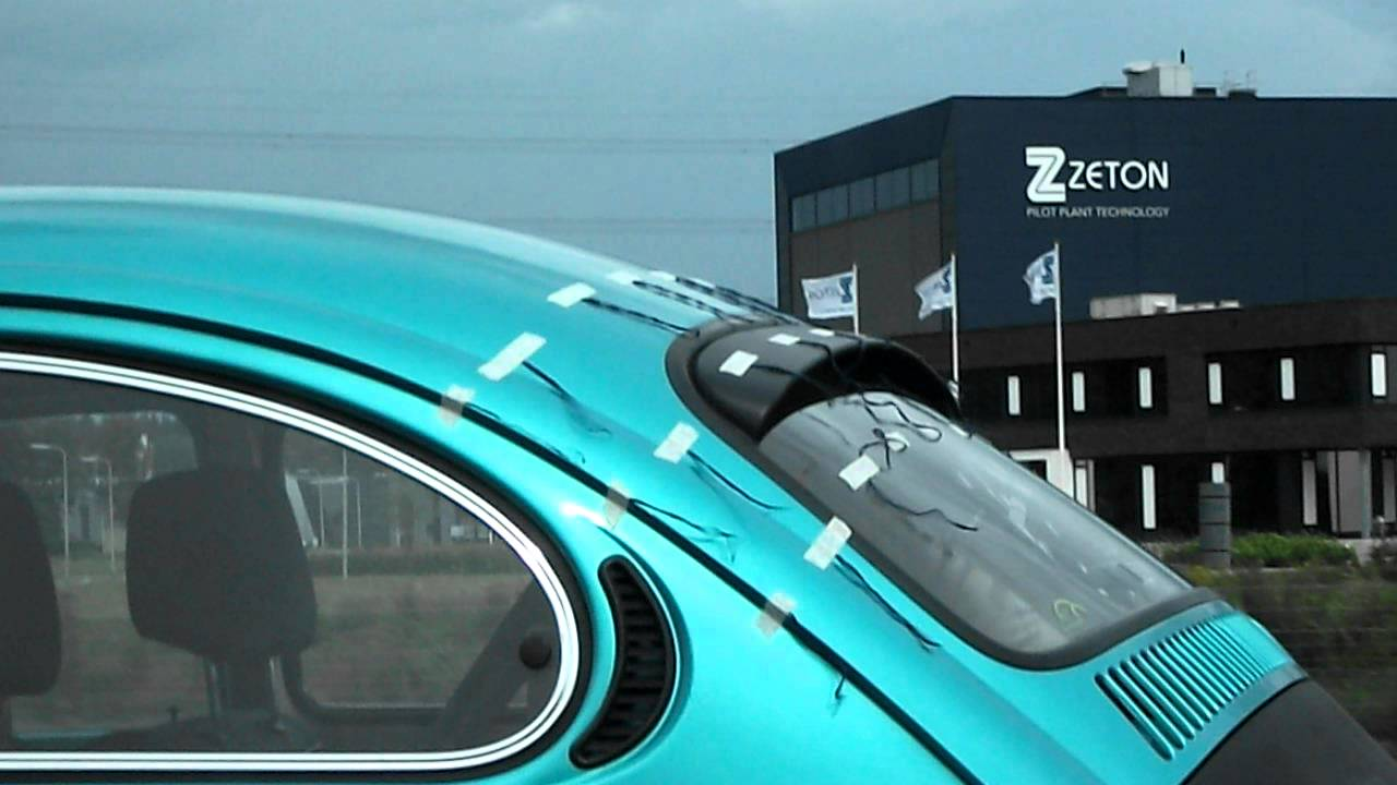 Vw Beetle Test >> vw beetle wool tuft test rear window Gerrelt spoiler - YouTube