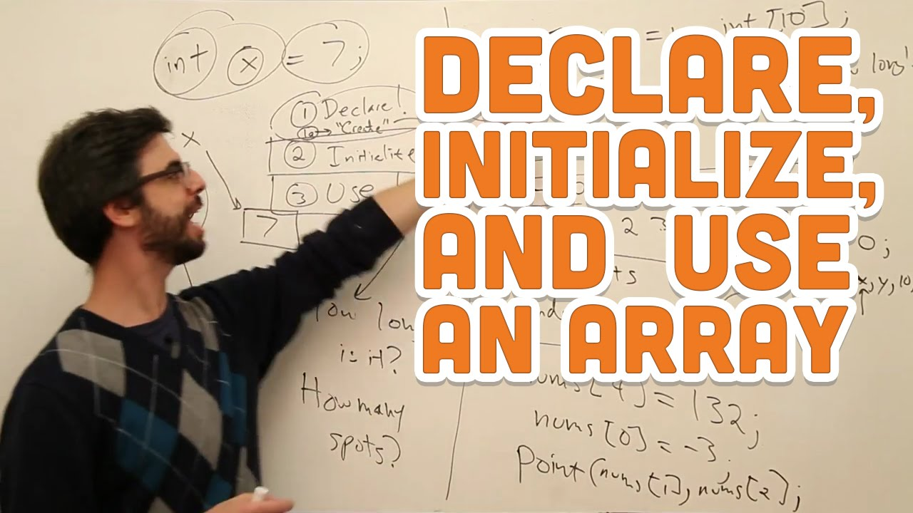 9.2: Declare, Initialize, and Use an Array – Processing Tutorial