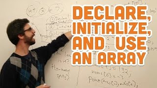 9.2: Declare, Initialize, and Use an Array - Processing Tutorial