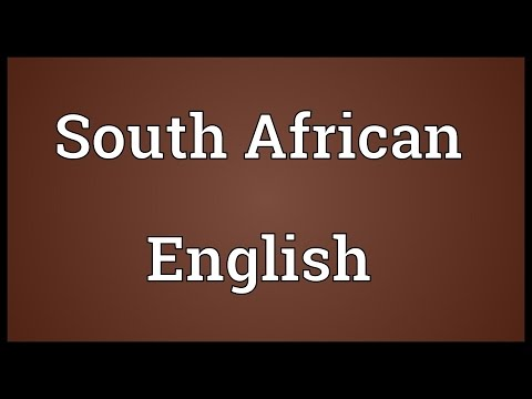 South African English Meaning
