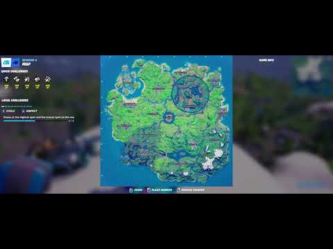 Where to Dance at the Highest point and the Lowest point on the map in Fortnite - Week 9