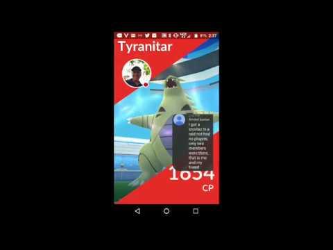 2 Tyranitar Raids: One Fled, I got the Next One