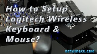how to setup logitech mk220 wireless keyboard mouse combo to a laptop or tablet