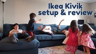 Setting Up Our New Sofa - Ikea Kivik Sectional in Hillared Dark Blue