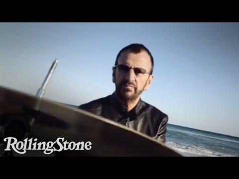 Ringo Starr Plays Drums On Miami Beach
