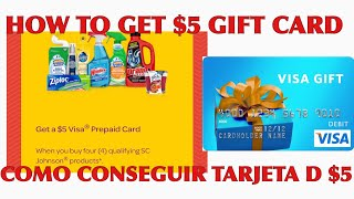 How to get $5 gift card /Como conseguir la tercera de regalo de$5