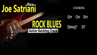 Rock Blues Joe Satriani Style Guitar BackingTrack 177 Bpm Gm