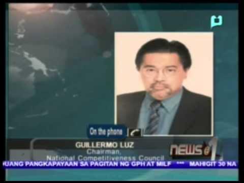 News@1 - Panayam kay Guillermo Luz, Chairman, National Competitiveness Council
