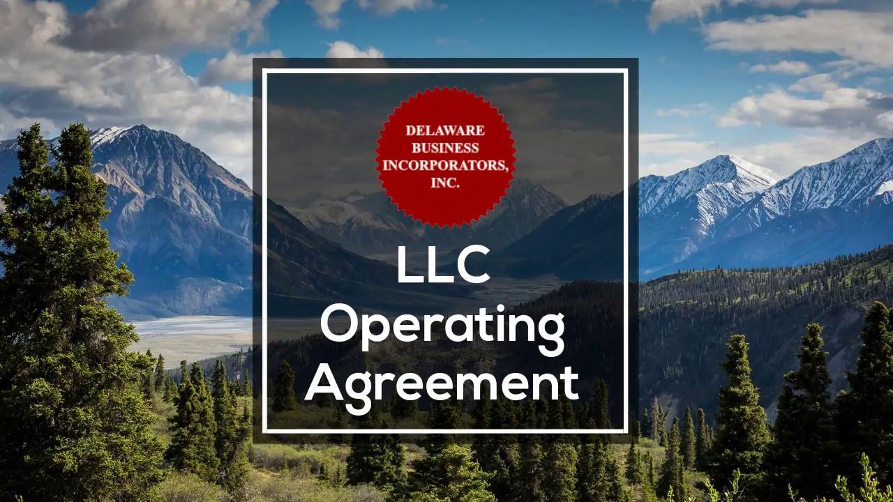 Llc Operating Agreement Llc Operating Agreement Delaware
