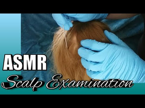 ASMR Scalp Examination with Gloves 💤🎧