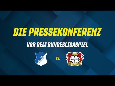 Die Pressekonferenz vor dem Bundesligaspiel gegen Bayer Leverkusen