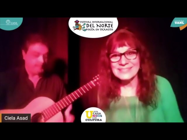 Recital de Ciela Asad (Argentina), en el Festival Internacional del Norte, Poesía en Tránsito