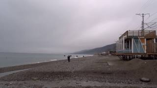 Дождливая погода. Пляж