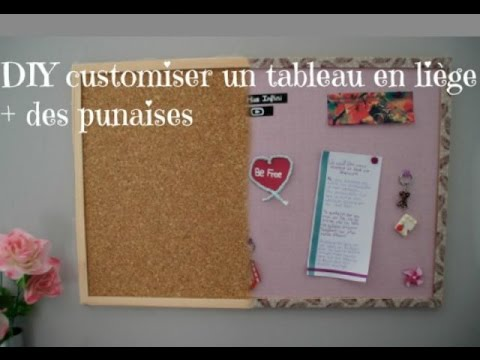 diy fran ais customiser un tableau en li ge et des punaises youtube. Black Bedroom Furniture Sets. Home Design Ideas