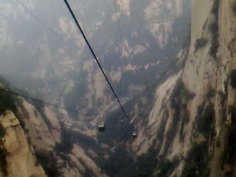 Hua Shan Montain - China - Cable Car Down