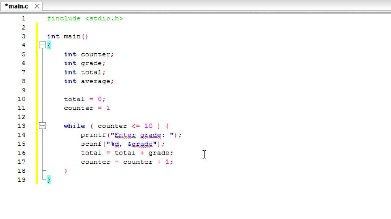 4 C Program To Find Average Of Ten Scores Counter