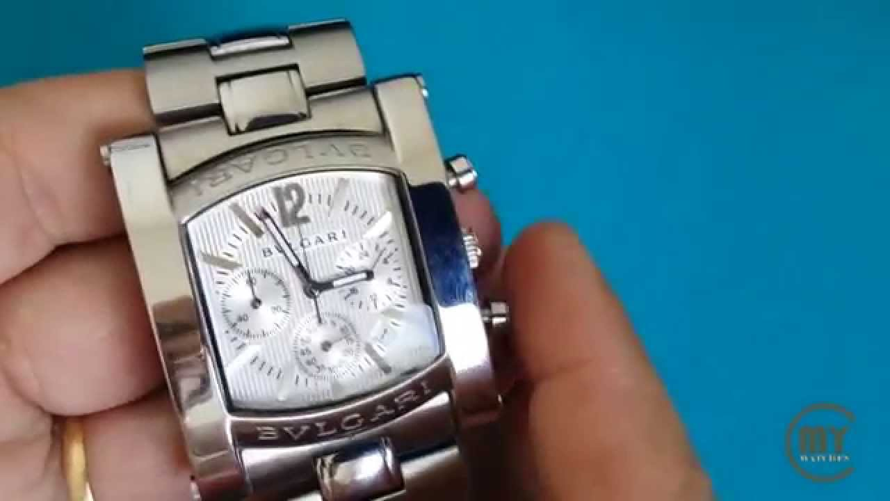 893e5133bee Bulgari Assioma XL Chronograph AA316L Withe Watch - YouTube
