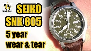 Seiko SNK805 - 5 year wear&tear - long term review