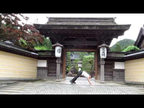 Short Yoga Demo at Koyasan Sacred mountain in Wakayama,Japan