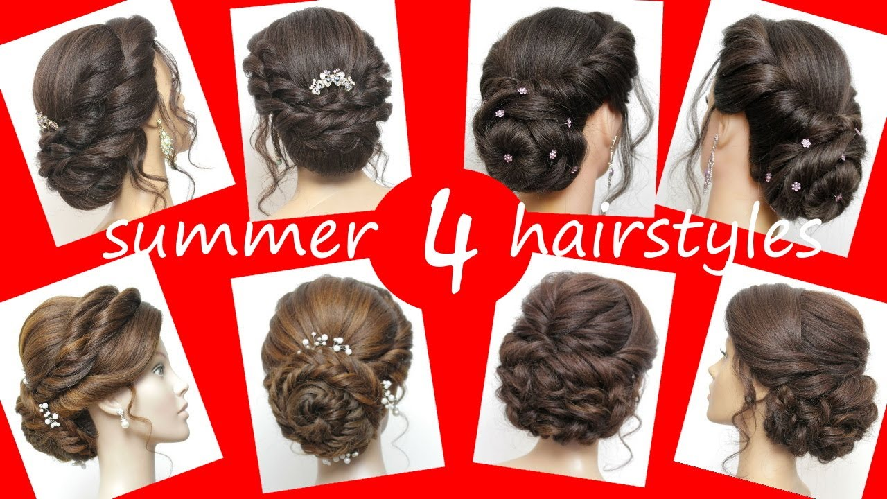 Easy Wedding Hairstyle For Long Hair Bun With Twists Bridal Updo Tutorial Youtube