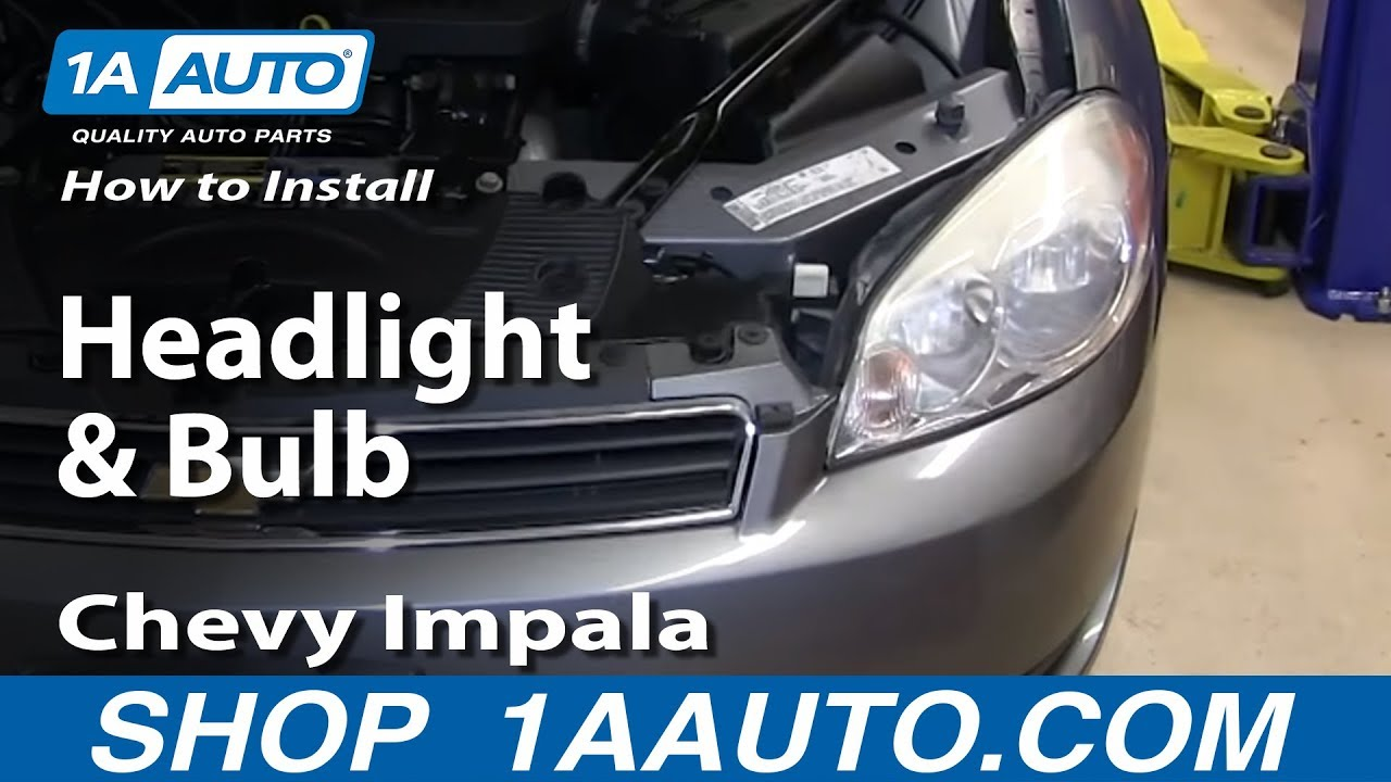 how to replace headlight 06 13 chevy impala [ 1280 x 720 Pixel ]