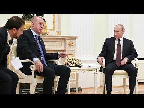 Встреча Путина и Эрдогана началась под наступление боевиков в Сирии
