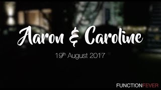 EXCLUSIVE LIVE @ Aaron & Caroline's Wedding