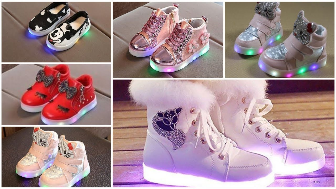 Best Led Light baby girl shoes design