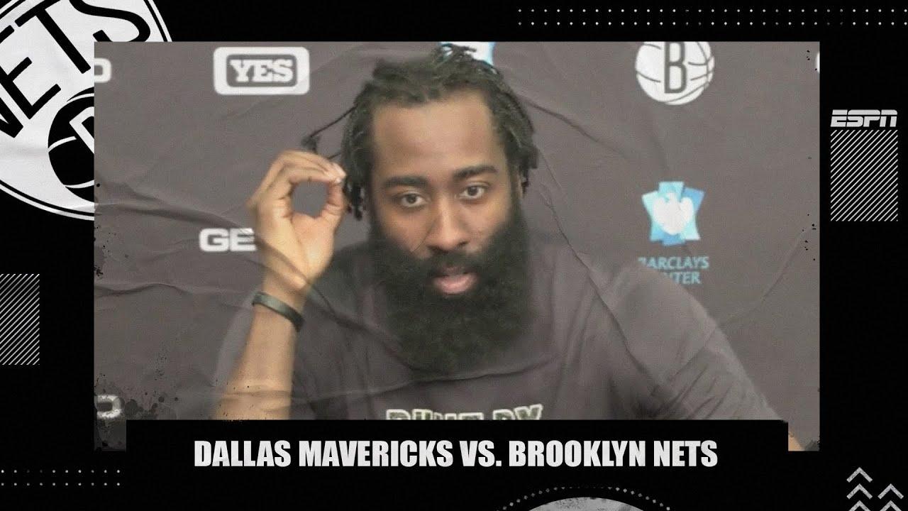 James Harden takes responsibility for 'careless turnovers' in loss vs. Mavericks   NBA on