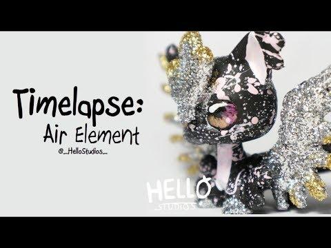 LPS Timelapse - Air Element - Handpainted Custom by HelloStudios