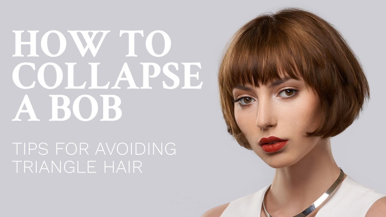 How To Collapse A Bob Haircut Avoid Triangle Hair Youtube