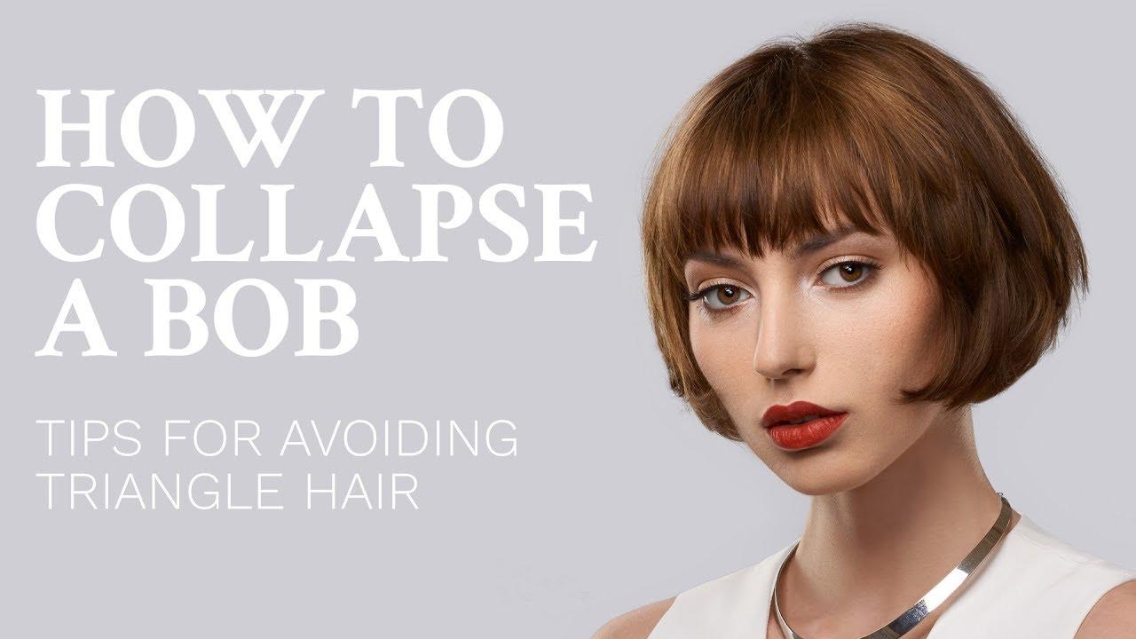 how to collapse a bob haircut - avoid triangle hair