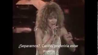 "TINA TURNER ""The best"" (LIVE, 90) subtitulada al español"