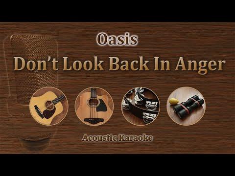 Don't Look Back In Anger - Oasis (Acoustic Karaoke)