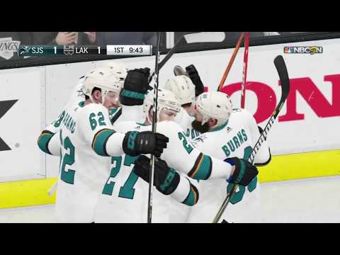 NHL Hockey - San Jose Sharks @ Los Angeles Kings - NHL 19 Simulation Full Game 5/10/18