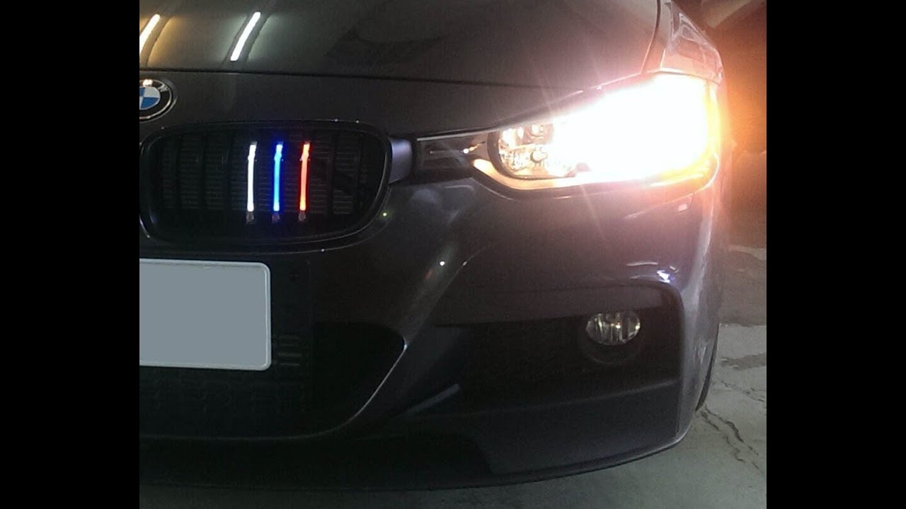 Ijdmtoy Bmw 3 Series M Color Led Grille Youtube
