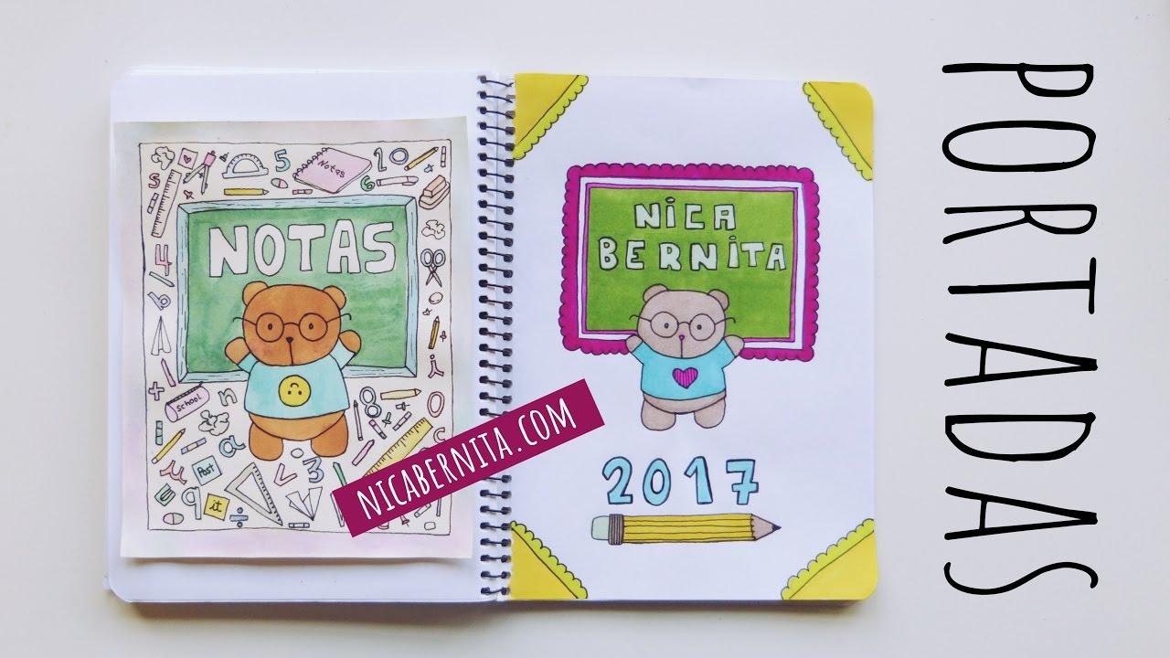 Dibujos Para Portadas De Cuaderno: PORTADAS PARA CUADERNOS. Decora Tus Libretas Con Dibujos