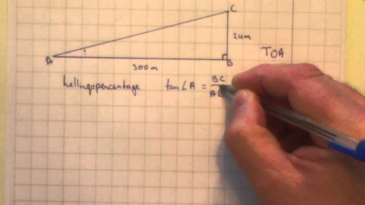 Mavo3 h5 3 hoe bereken je het hellingspercentage youtube - Hoe het sieren ...