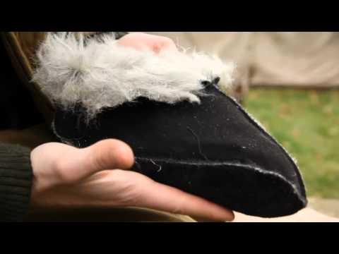 Носки меховые черные