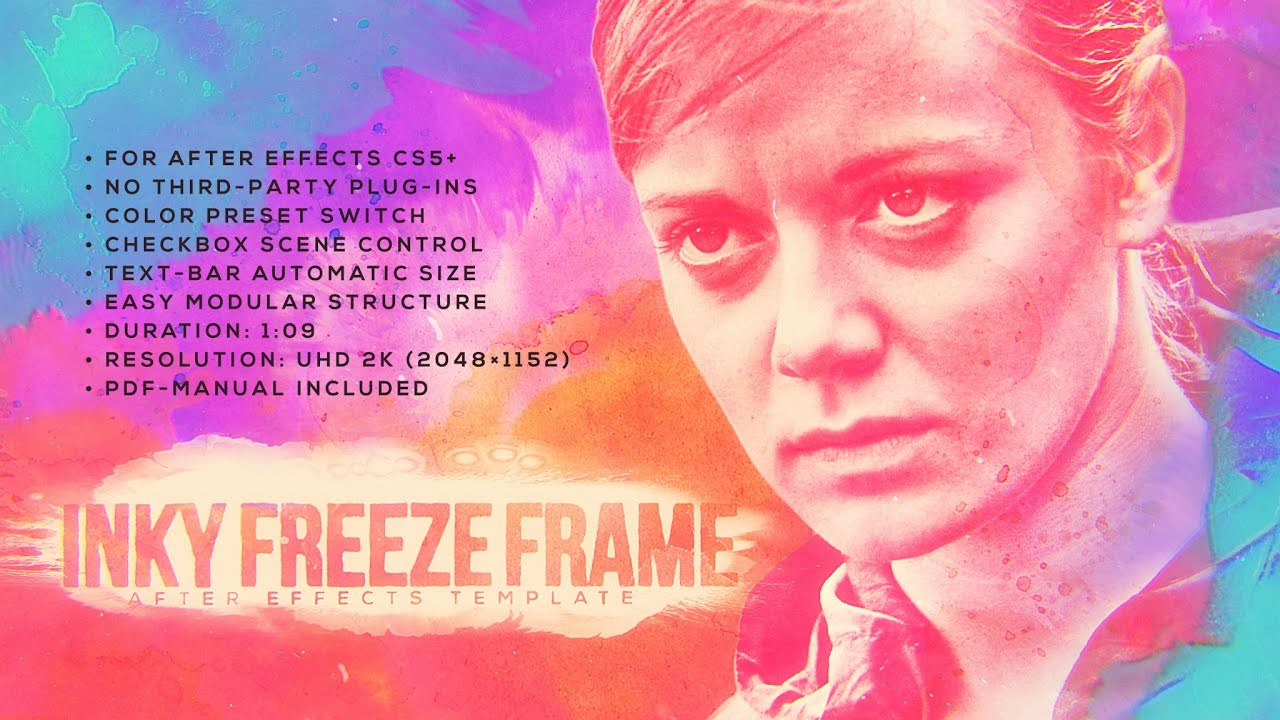 Inky Freeze Frame [After Effects template]