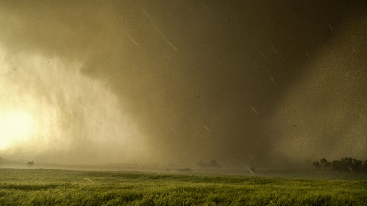 Too Close To Ef4 Tornado Inside Debris Cloud In 4k Youtube