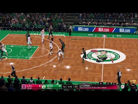 NBA LIVE 19 New Patch 1.19! Los Angeles Clippers vs Boston Celtics - Franchise Mode Commentary - HD