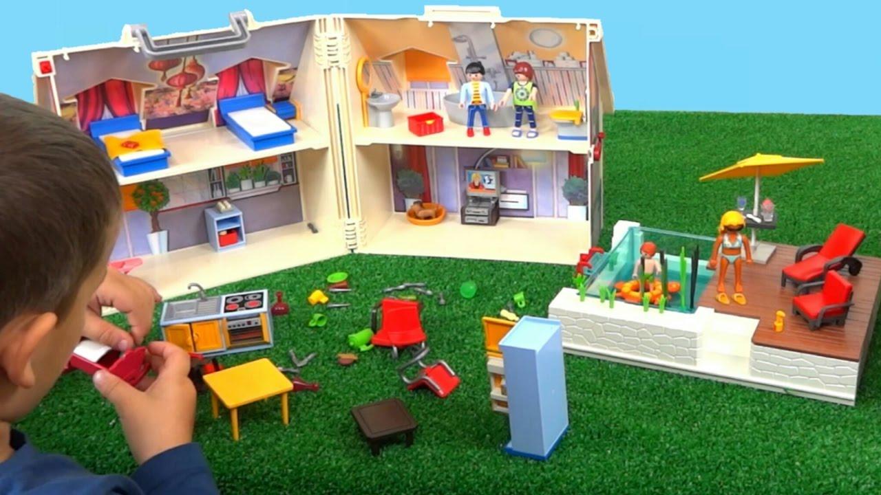 La casa malet n de playmobil malet n de mu ecas playmobil youtube - Gran casa de munecas playmobil ...
