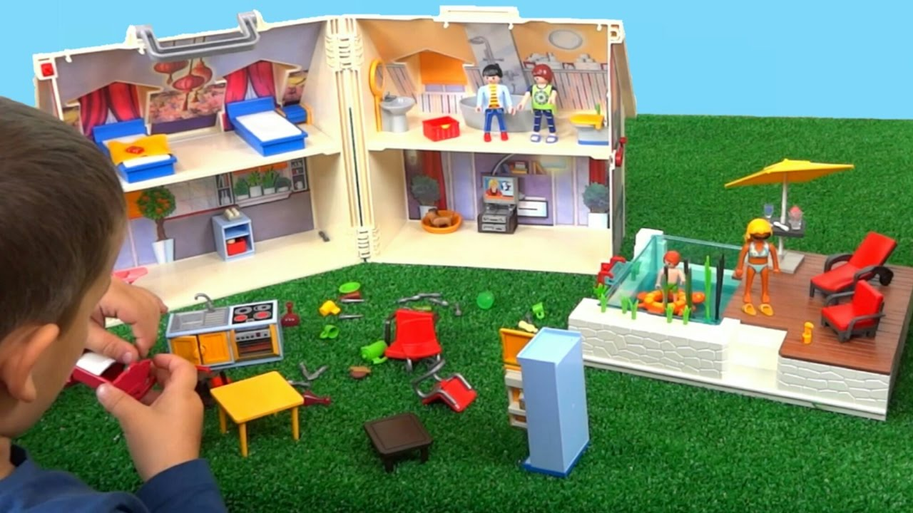 La casa maletn de PLAYMOBIL maletn de muecas playmobil  YouTube