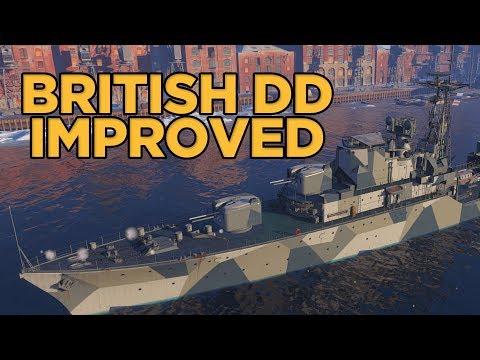 World of Warships - British DD Improved