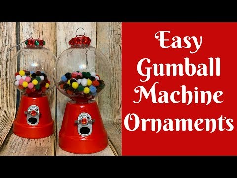 Christmas Crafts: Easy Gumball Machine Ornaments