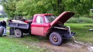 1966 Ford F350 Dump Truck, #2 (first couple days of restoration)